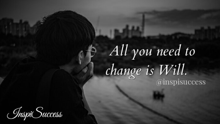 All you need to change is will.